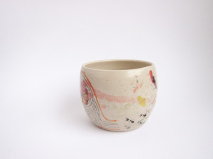 Azzone Alessandra Handmade, blue, ceramics, coffee, colours, cup, pottery, red, stoneware, tea