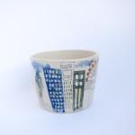 Azzone Alessandra Handmade, blue, ceramics, colours, pottery, red, serving bowl, stoneware, white, yellow