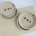 Azzone Alessandra Handmade, ceramics, colours, pottery, serving plates, small, stoneware, white