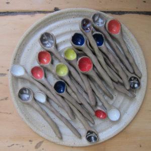 Azzone Alessandra Handmade, colorful, spoon, stoneware